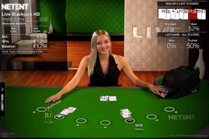 Spinia Live Casino Blackjack