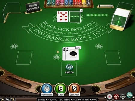 high limit blackjack screenshot